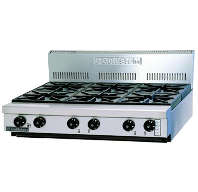 Goldstein 800 Series PFB-36 Cooktop 6 Burner No Stand