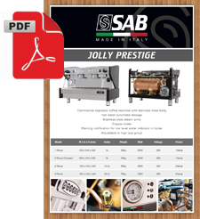 SAB Jolly Prestige PRES1GR 1 Group Coffee Machine