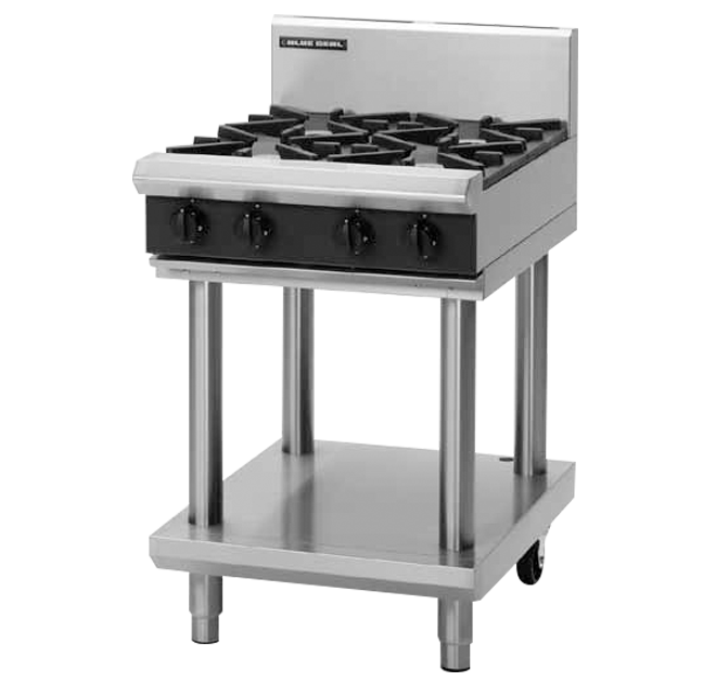 Blue Seal G514B-LS Cooktop & Griddle 600mm With Leg Stand Nat Gas