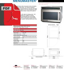 Menumaster DEC14E2A Microwave 1400 Watt