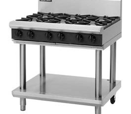 Blue Seal G516D-LS Cooktop 6 Burner With Leg Stand Nat Gas
