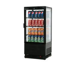 Bromic CT0080G4B Counter Top Fridge Flat Glass Black 78ltr