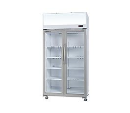 Skope TCE1000 Fridge Upright Integral White 2 Glass Doors