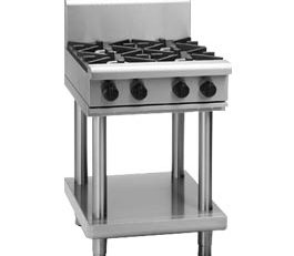 Waldorf 800 Series RN8400G-LS Cooktop 4 Burner With Leg Stand Nat Gas