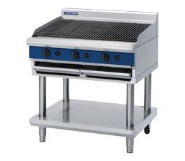 Blue Seal G596-LS Chargrill 900mm With Leg Stand Nat Gas