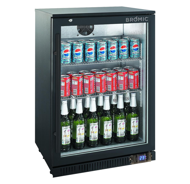 Bromic BB0120GD Backbar Display Fridge 1 Door Black