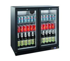 Bromic BB0200GD Backbar Display Fridge 2 Glass Doors