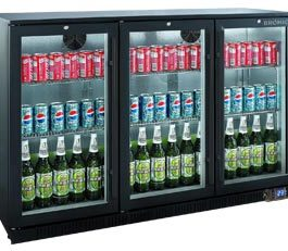 Bromic BB0330GDS Backbar Display Fridge 3 Sliding Glass Doors