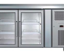 Bromic UBC1360SD Undercounter Fridge 2 Door S/S Solid