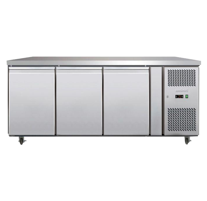 Bromic UBC1795SD Undercounter Fridge SS 3 Doors Solid