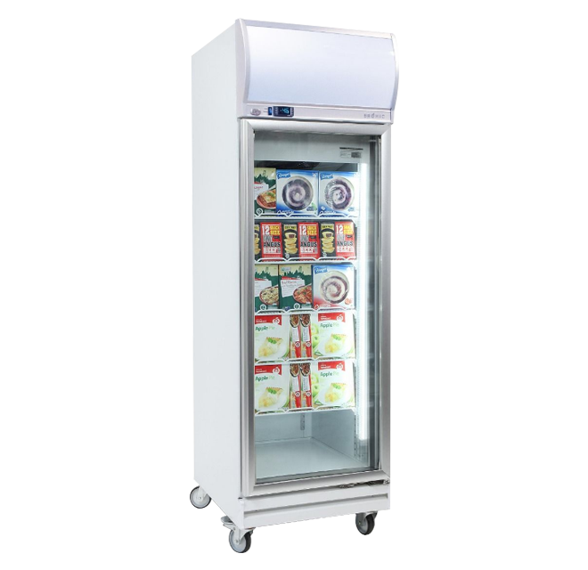 Bromic UF0500LF Upright Freezer With Light Box 1 Glass Door