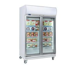 Bromic UF1000LF Upright Freezer With Light Box 2 Glass Door