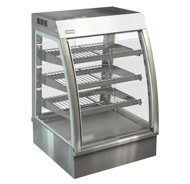 Cossiga CC5HT9 Countertop Hot Food Curved Glass Display Self Serve