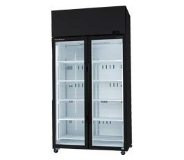 Skope SKT Series SKT1000-A ActiveCore Upright Fridge Integral White 2 Glass Doors