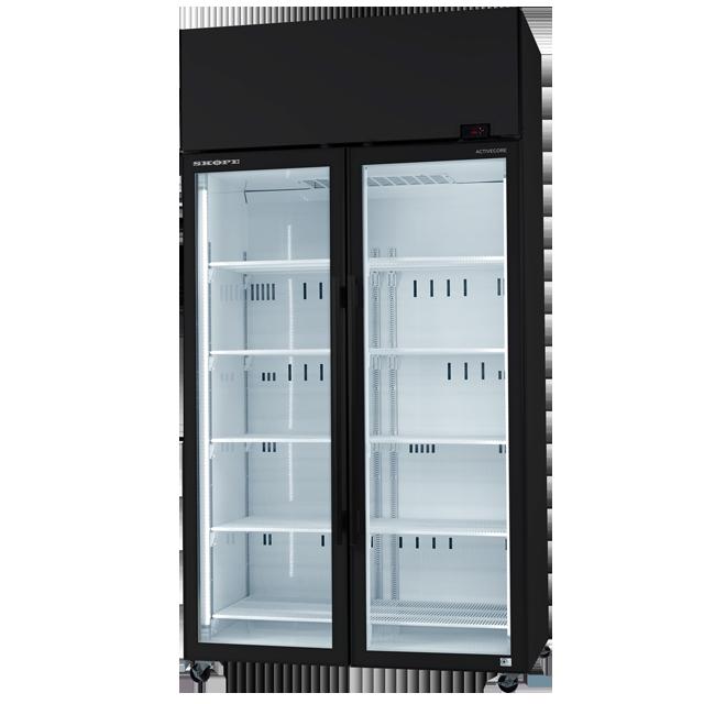Skope SKT Series SKT1000-A ActiveCore Upright Fridge Integral White 2 Glass Doors