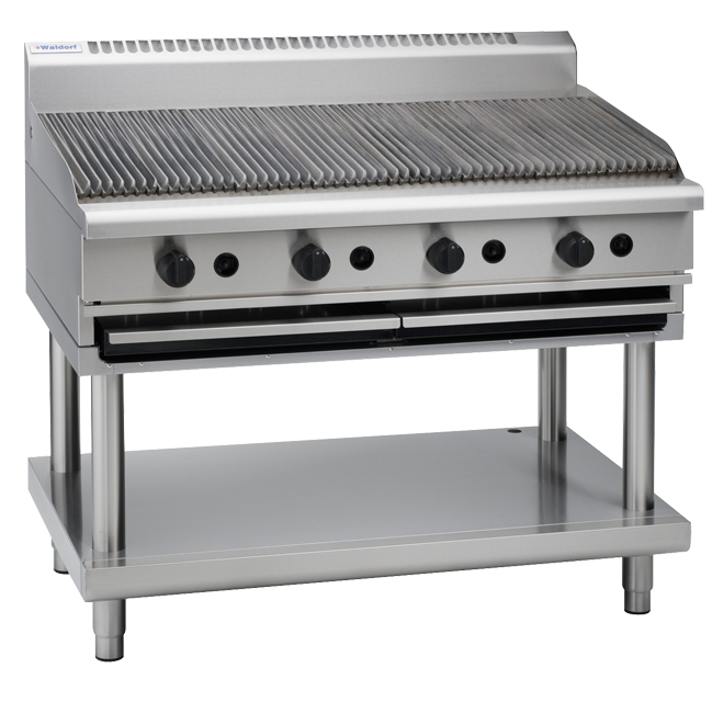 Waldorf 800 Series CH8120G-LS Chargrill 1200mm With Leg Stand Nat Gas