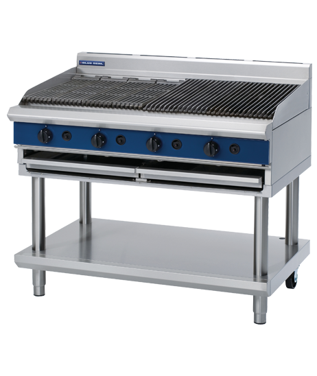 Blue Seal G598-LS Chargrill 1200mm With Leg Stand Nat Gas