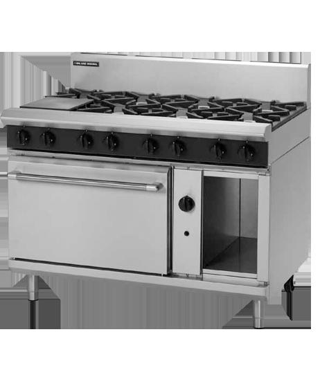 Blue Seal H.D. G508D Oven Range 8 Burner Nat Gas