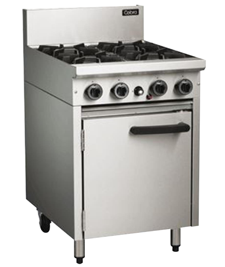 Cobra CR6D Oven Range Static 4 Burner Nat Gas