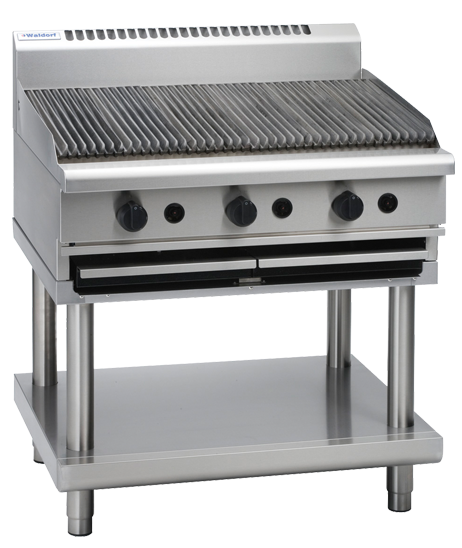 Waldorf 800 Series CH8900G-LS Chargrill 900mm On Leg Stand Nat Gas